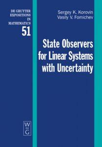 کتاب تخمین گرهای سیستم های خطی در حضور عدم قطعیت